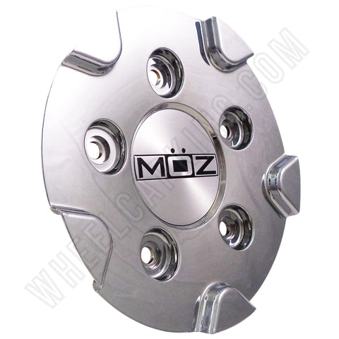 Moz Wheels Chrome Custom Wheel Center Cap # 2001-25 (4 CAPS)