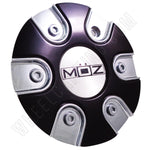 Moz Wheels 2001-20 Chrome/Black Custom Wheel Center Caps (4 CAPS)