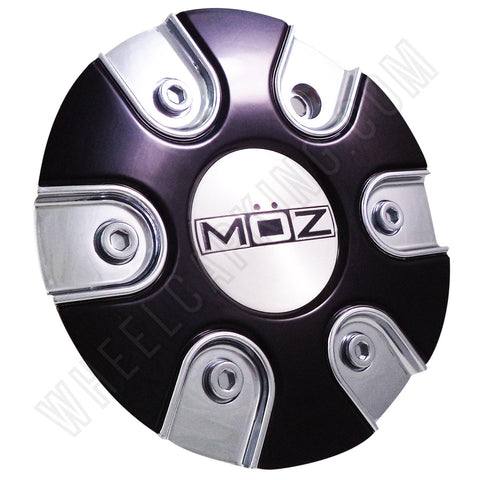 Moz Wheels 2001-20 Chrome/Black Custom Wheel Center Caps (1 CAP)