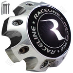Raceline Wheels Chrome Custom Wheel Center Caps # 311164 / 1079L170 (1 CAP) 8 LUG