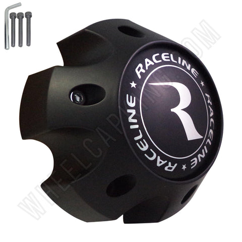 Raceline Wheels Flat Black Custom Wheel Center Caps # 1079L140 / 311162 (1 CAP) 6 LUG