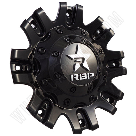 RBP Wheels Gloss Black Custom Wheel Center Caps # C-94R-171820B / 369S01 (1 CAP)