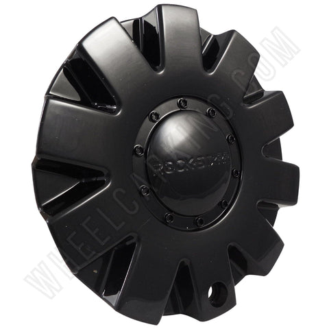 ROCKSTARR Wheels Gloss Black Custom Wheel Center Cap # C-138 (4 CAPS)