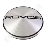 Rovos Wheels Chrome / Black Logo Custom Wheel Center Cap # 188 (1 CAP)