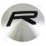 Rovos Wheels Silver Custom Wheel Center Cap # GB-R (4 CAPS)
