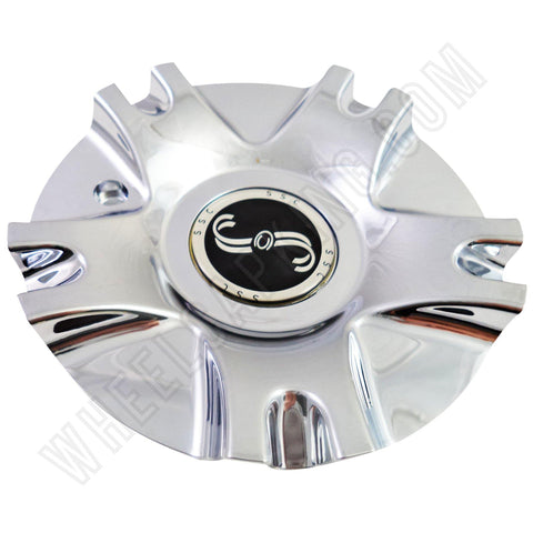 SSC / Sears Chrome Custom Wheel Center Cap # MCD1398YA01 / SJ811-02 (4 CAPS)