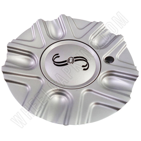 SSC / Sears Silver Custom Wheel Center Cap Caps # MCD1586YA01 / SJ106-18 (4 CAPS)
