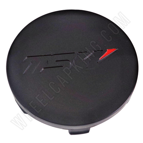 TSW Wheels Matte Black Custom Wheel Center Cap # PCG18-T (4 CAPS)