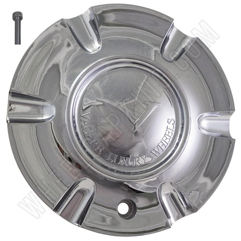 Vagare Wheels Chrome Custom Wheel Center Cap # S1050-NS02 /  C-053-2 (4 CAPS)