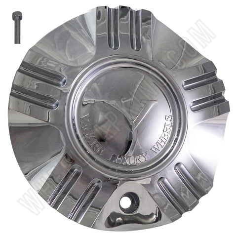 Vagare Wheels Chrome Custom Wheel Center Caps # C-055-1-1/S1050-NS01 (1 CAP)