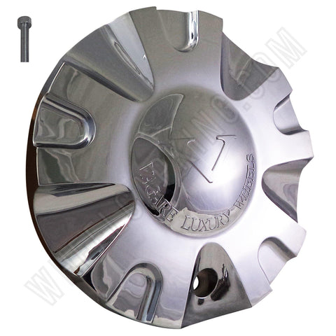 VAGARE Wheels Chrome Custom Wheel Center Cap # C-099-2 (1 CAP)