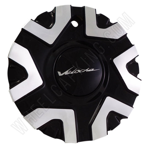 Veloche Wheels C10575B Gloss Black/Silver Custom Wheel Center Caps (1 CAP)