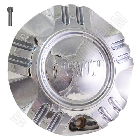 Venti Wheels Chrome Custom Wheel Center Caps # C-055-2-1 / S1050-NS01 (1 CAP)
