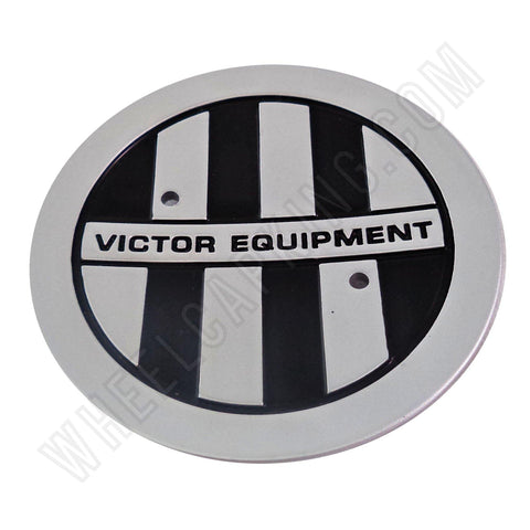Victor Equipment Wheels Silver / Black Custom Wheel Center Cap # C-E76 (4 CAPS)