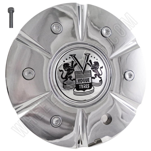 Vogue Wheels Chrome Custom Center Cap # 504H174-1 (4 CAPS)