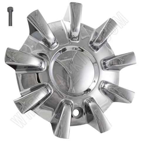 Driv / Vogue Wheels Chrome Custom Wheel Center Cap Caps # 8690-15 / 056R185 (4 CAPS)
