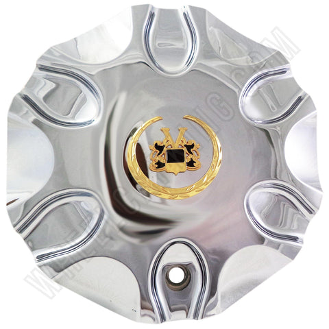 Vogue Wheels Chrome Custom Wheel Center Cap # HELO-5 (1 CAP)