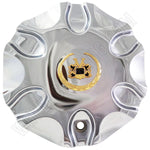 Vogue Wheels Chrome Custom Wheel Center Cap # HELO-5 (4 CAPS)