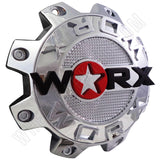 Worx Wheels Chrome Custom Wheel Center Caps # 89-8808-CAP, 89-8808 (1 CAP)