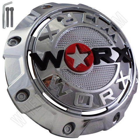 Worx Wheels Chrome Custom Wheel Center Caps # A89-8856 / WRX-8856 (4 CAPS)