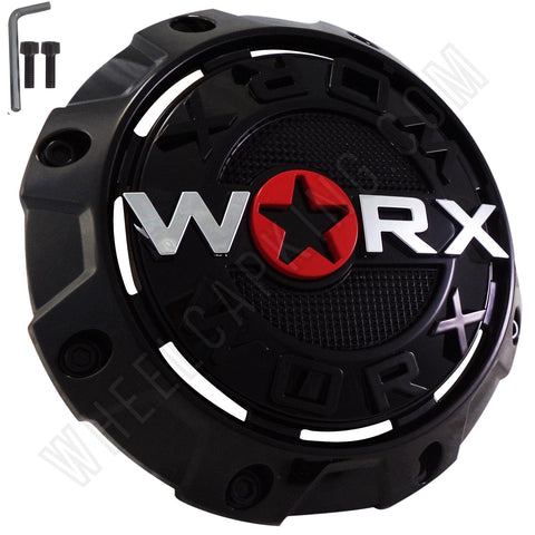 Worx Wheels Gloss Black Custom Wheel Center Caps # A89-8856 / WRX-8856 (4 CAPS)