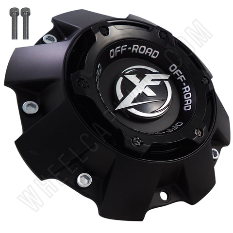 XF Offroad Wheels Flat Blk/Gloss Black Top Short Custom Center Cap # 1444L227 (1 Cap)