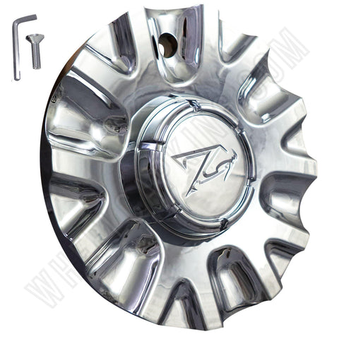 Zinik Wheels Chrome Custom Wheel Center Cap Caps # Z15 / MS-CAP-Z170 / VERONA (4 CAPS)