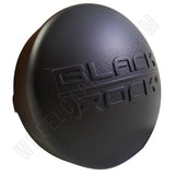 Black Rock Wheels Flat Black Custom Wheel Center Cap # 330732RB / 311122 (1 CAP)