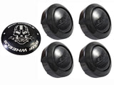 BMF Wheels Gloss Black Custom Wheel Center Cap 5 LUG (4 CAPS) W/1 Set Skull Logos