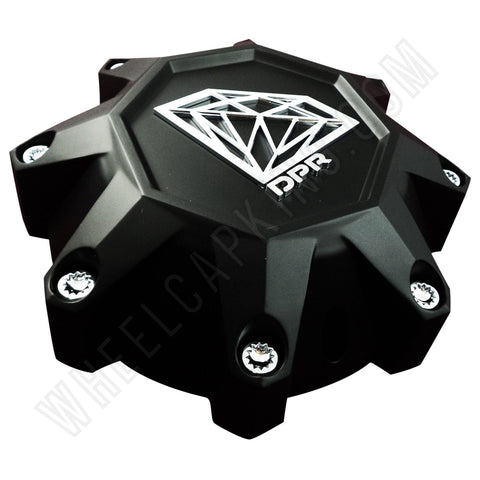 DPR Wheels Flat Black Diamond Logo Wheel Center Cap # DPR-8-CAP / A01-Z-CAP (1 Cap) Tall