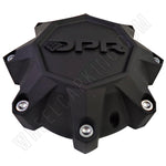 DPR Wheels Flat Black / Black Logo Custom Wheel Center Cap # A01-Z-CAP TALL (4 CAPS)