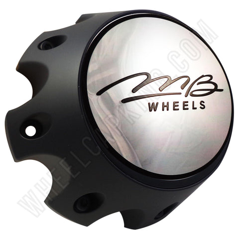 MB Motoring Flat Black Custom Wheel Center Cap # BC-790H (1 CAP)