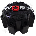 Worx Wheels Gloss Black Custom Wheel Center Caps # WRX-8808LSB / WRX-8808-SB-L (1 CAP)