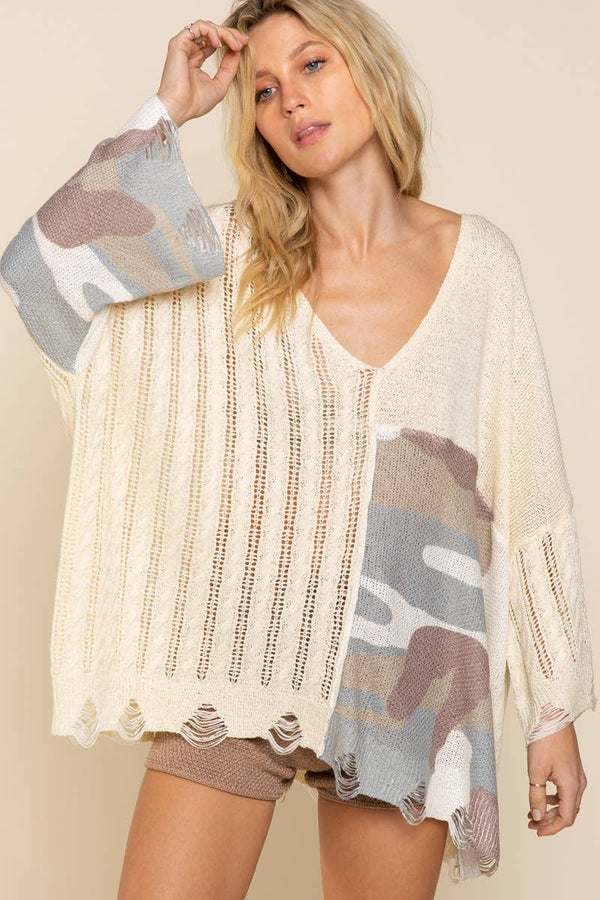 The Camille Camo Sweater