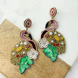 Cutest Flamingo Statement Earrings