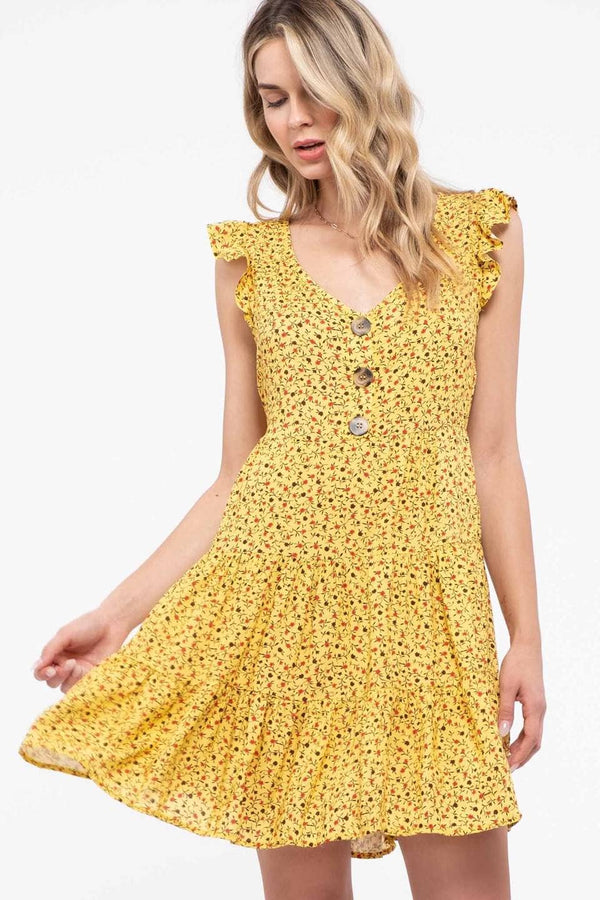 The Goldfields Floral Dress