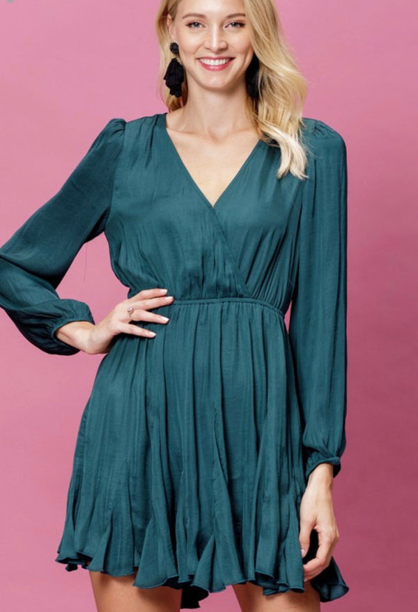 Our Holiday Hunter Green Party Dress