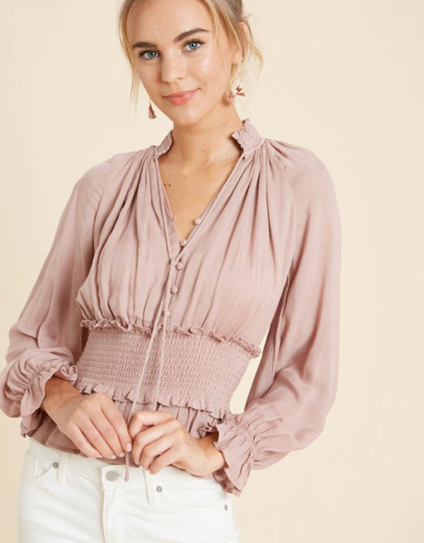 The Rene Blush Top