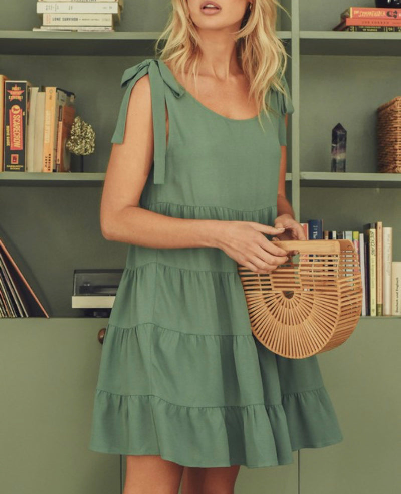 The Age of Sage Babydoll Dress