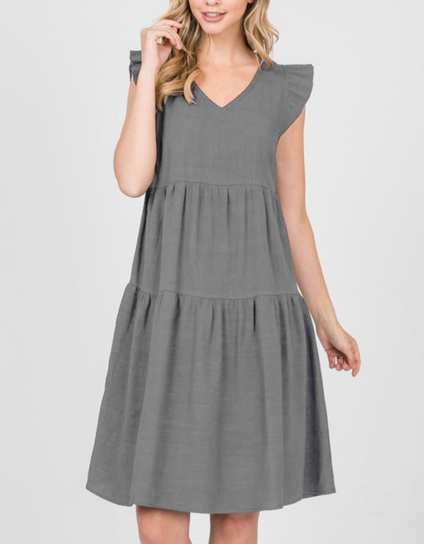 The Heather Grey Midi Dress