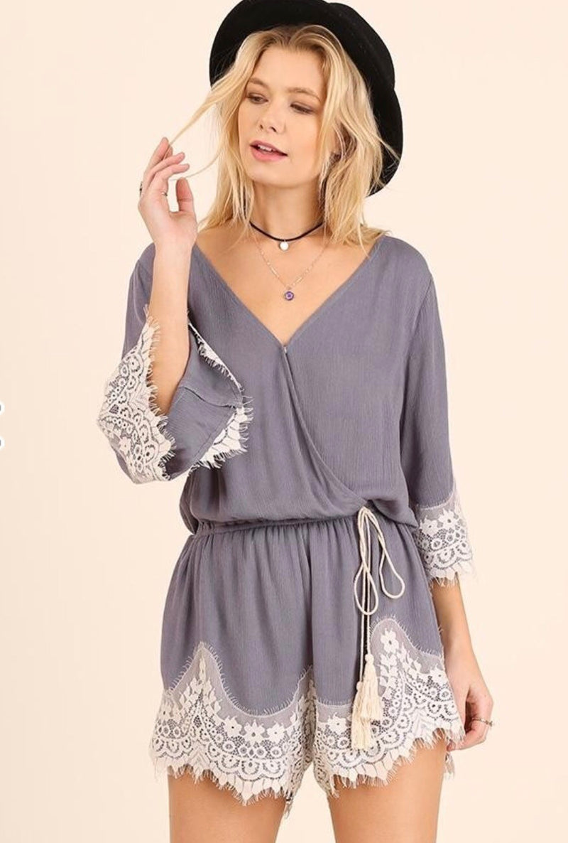 The Annalise Lace Romper