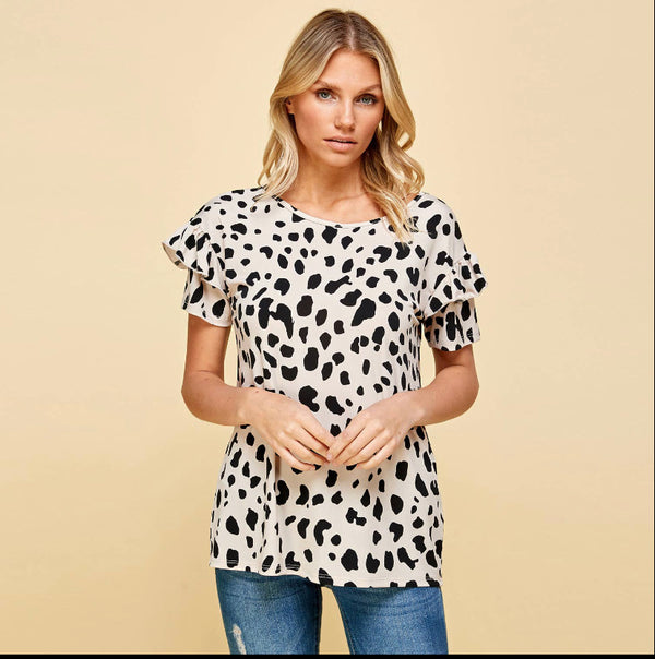 The Kayla Animal Print Top