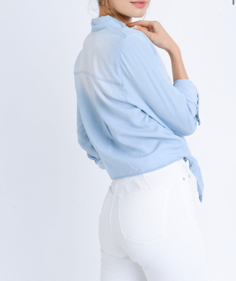The Why Knot Chambray Top