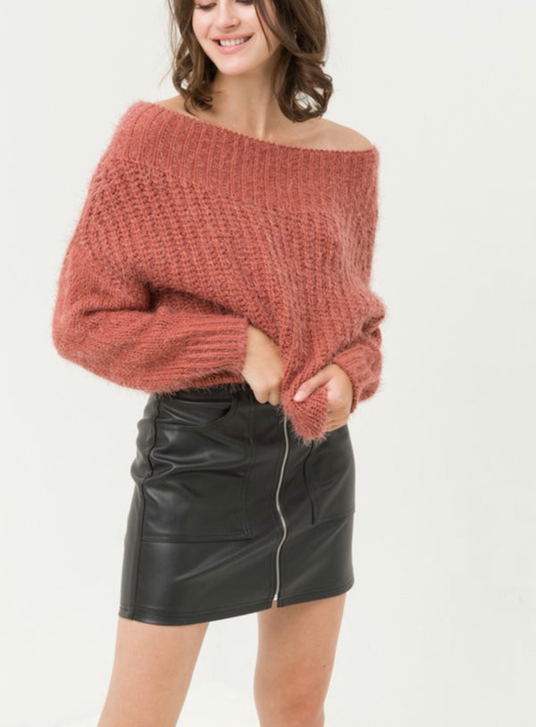The Quebec  Off the Shoulder Sweater