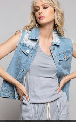 The Palms Denim Vest