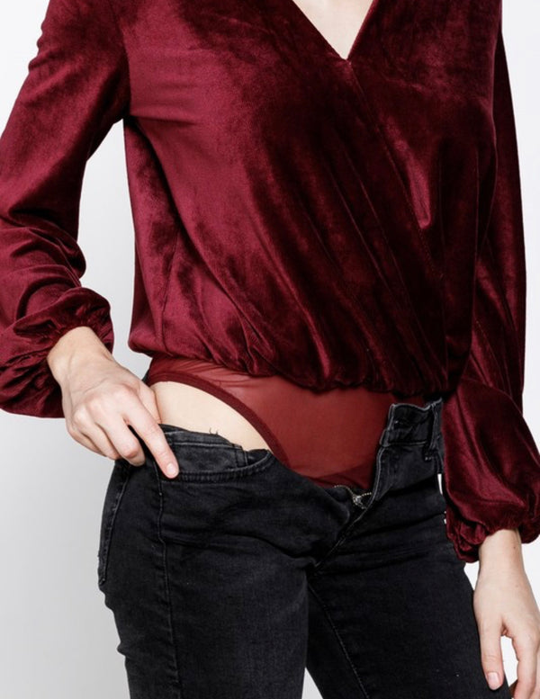 The Carmenere Velvet Bodysuit