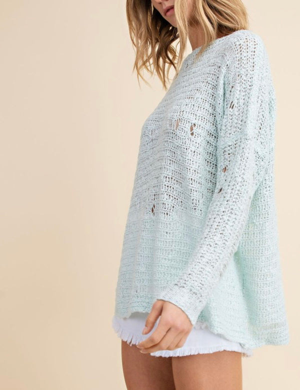 The We're Not Blue Distressed Sweater
