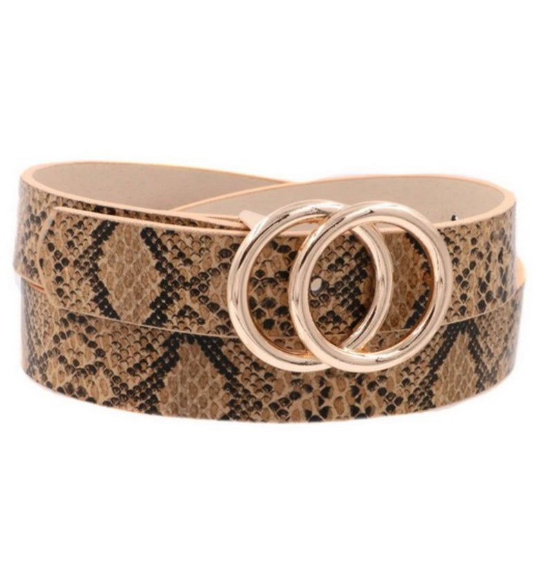 The Inner Circle Skinny Snake Print Belt