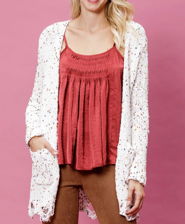 The Funfetti Distressed Cardigan