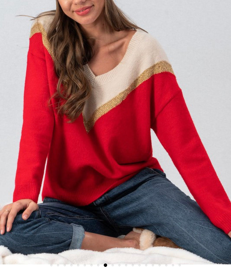 The Chevron Glam Sweater